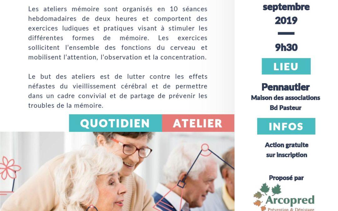 Ateliers mémoire 10 séances
